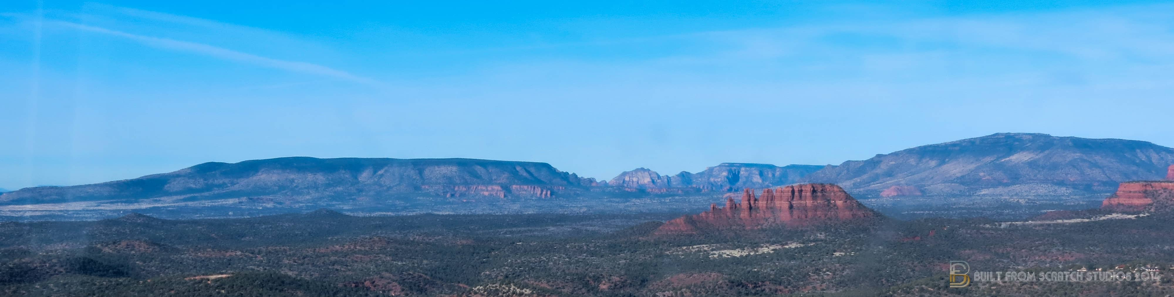 Sedona Arizona Panorama taken by Estevan Bellino and Built From Scratch Studios