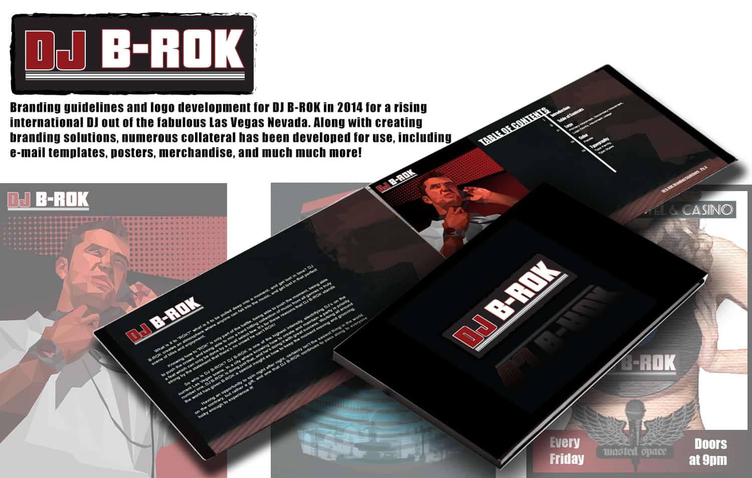 Personal Branding Guideline in Arizona by Estevan Bellino for DJ B-Rok