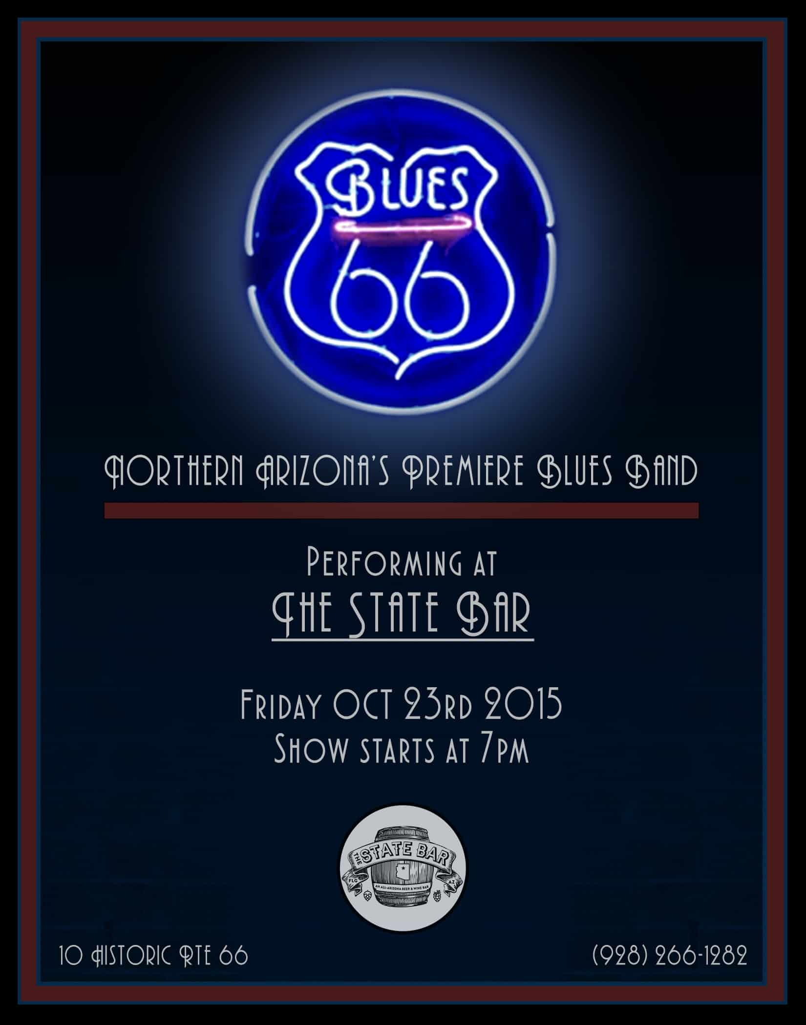 Blues 66 Neon Sign Poster No Pics