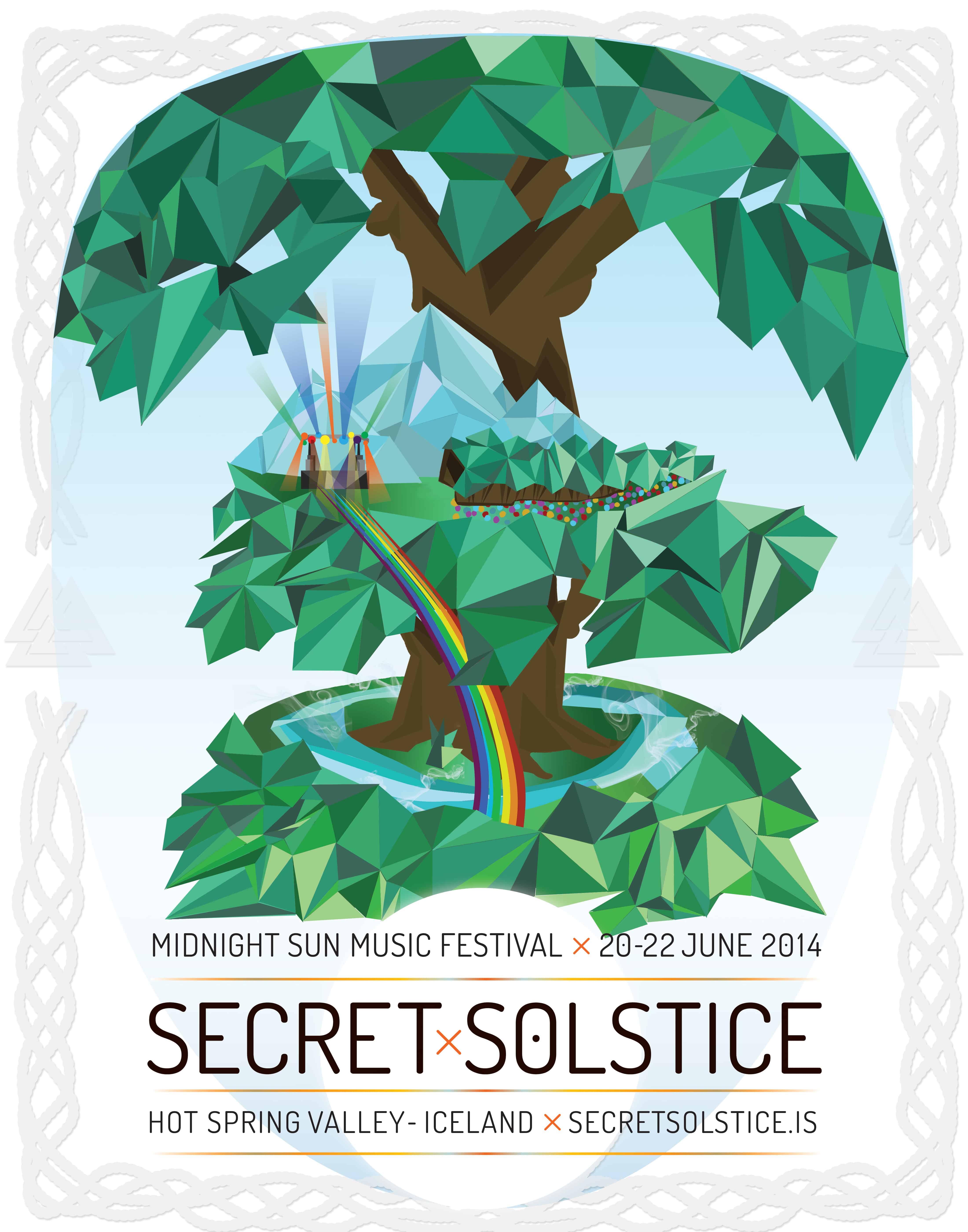 Yggdrasil Secret Solstice 2014 Festival Poster