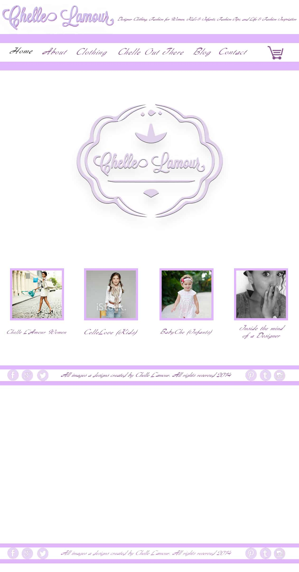 Chelle Lamour Website Mockup Home Page